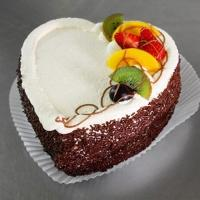 Heart Shape Mix Fruity Cake