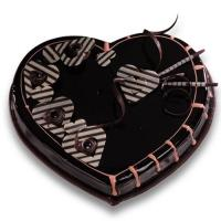 Veg Chocolate Heart Cake