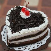Veg Black Forest Heart Shape Cake