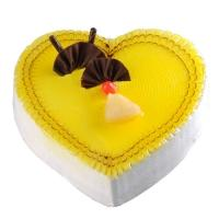 Veg Pineapple Heart Cake