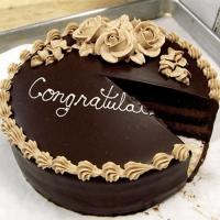 Congratulation Chocolate Cake