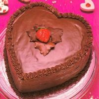 2 Kg Heart Shape Chocolate Cake