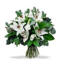 White Lily and Roses