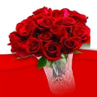 Dozen Romantic Red Rose Bouquet