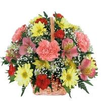 Elegant Flowers Basket