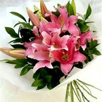 Bunch Of Pink Lilies