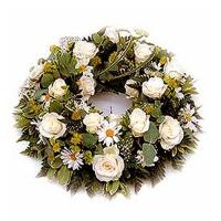 Sympathy Flowers Wreath