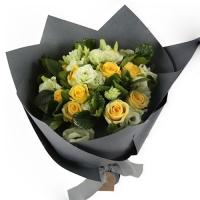 Yellow & White Roses Bouquet