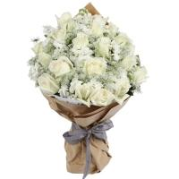 White Roses Purity Bouquet
