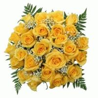 20 Yellow Roses Flowers Bouquet