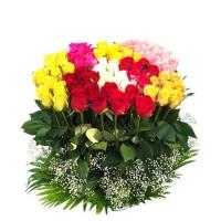 50 Mix Roses Flowers Bouquet
