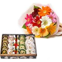 Mix Gerberas N Assorted Sweets