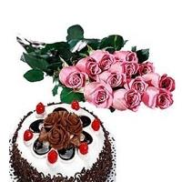 Pink Roses with Veg Cake