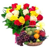 Mix Roses with Fresh Fruits