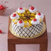 Designer One Kg Pineapple Cake with Red Berries