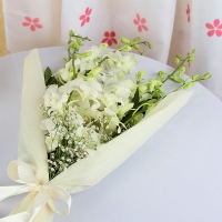Lovely White Orchids Bouquet