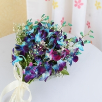 Beautiful Blue Orchid Bouquet