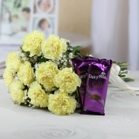 Adorable Carnations & Tempting Chocolate