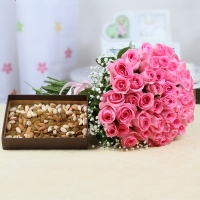 50 Roses with Dry Fruits