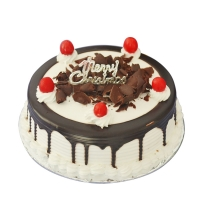1 Kg Black Forest Cake on Merry Christmas