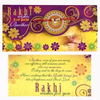 Beautiful Rakhi & Rakhi Greeting
