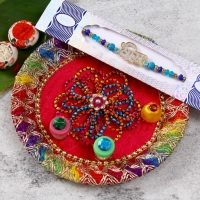 Veera Rakhi with Pooja Thali for USA Delivery