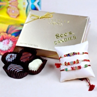 Rakhis with Truffle Chocolates for USA Delivery