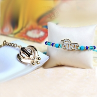 Veera Rakhi with Khanda Keychain for USA Delivery