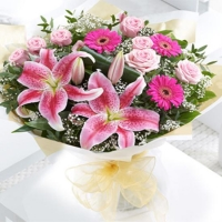 Large Pink Radiance Hand-tied for UAE