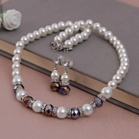 Ravishing Pearl Necklace with Earrings