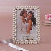 Metallic Photo Frame with Floral Border