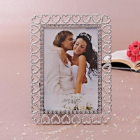 Rectangular Photo Frame with Hearts Border