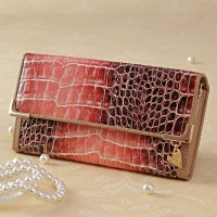 Gaofan Leather Pinkish Clutch