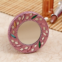 Pink Colour Designer Compact Mirror