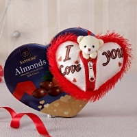 Almonds Milk Chocolates and Fur Heart