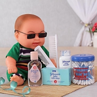Baby Boy Toy with Johnsons Gift Hamper