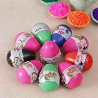 Five Holi Colors in Egg Shaped Cans