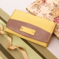 Multi Pocket Yellow Wallet
