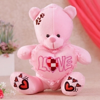 Pink Teddy Bear with Heart