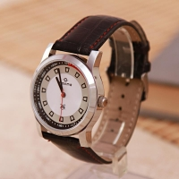 Maxima Watch with Leather Strap